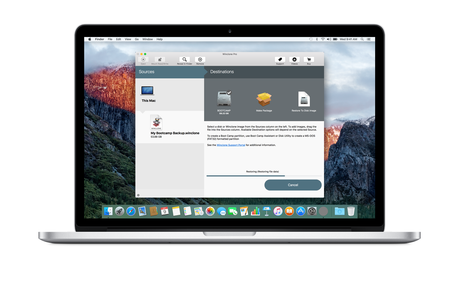 Winclone 6 for Mac Released by Twocanoes Software Image